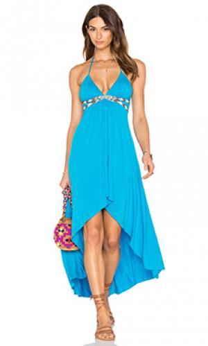 Платье olieandar sky. Цвет: синий