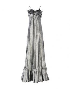 Длинное платье DANIELE CARLOTTA. Цвет: серебристый