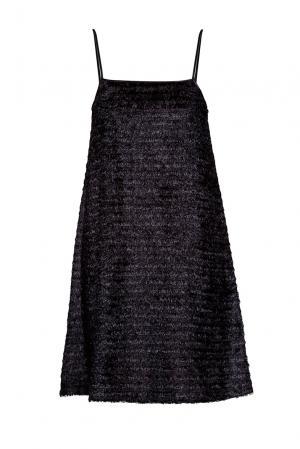Платье на бретелях 190620 Cyrille Gassiline. Цвет: черный