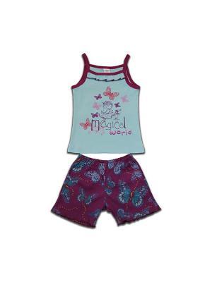Пижама Yallo Kids. Цвет: фиолетовый