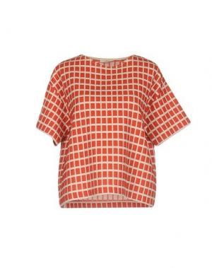 Блузка BARBON. Цвет: бежевый