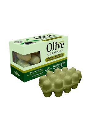 ГЕРБОЛИВ Массажное мыло с глицерином. Антицеллюлитное для пилинга. Вес: 100гр. Madis S.A.. Цвет: оливковый