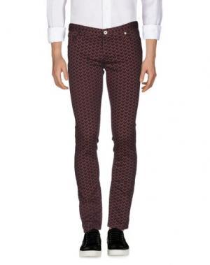 Джинсовые брюки JUST CAVALLI. Цвет: красно-коричневый