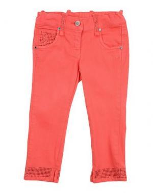Джинсовые брюки MICROBE. Цвет: коралловый