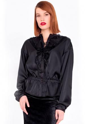 Блуза LO. Цвет: черный