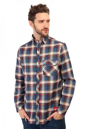 Рубашка в клетку  Check Shirt Blue/Red/Beige Skills. Цвет: бежевый,красный,синий