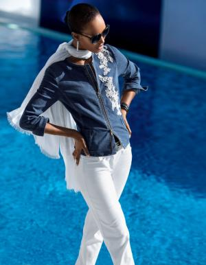 Куртка Madeleine. Цвет: bleu/weis