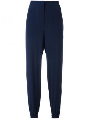 Укороченные брюки с эластичными манжетами Cédric Charlier. Цвет: синий