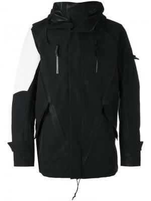 Куртка с принтами вокруг швов 11 By Boris Bidjan Saberi. Цвет: чёрный