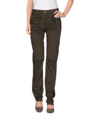 Повседневные брюки CANADIENS. Цвет: темно-коричневый