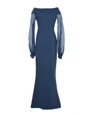 Длинное платье CHIARA BONI LA PETITE ROBE. Цвет: грифельно-синий