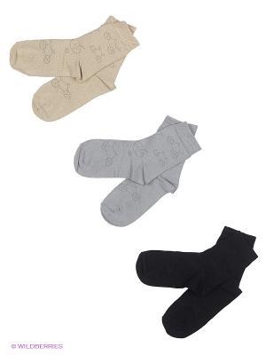 Носки детские, 3 пары БРЕСТСКИЕ. Цвет: черный, светло-серый, светло-бежевый