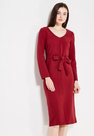 Платье Affari. Цвет: бордовый