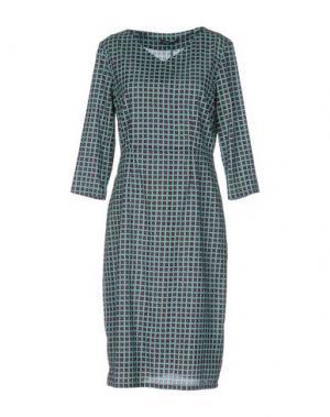 Платье до колена LAURA URBINATI. Цвет: светло-зеленый