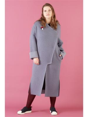 Пальто W&B. Цвет: серый