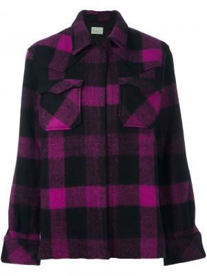 Пиджак в клетку Aries. Цвет: розовый и фиолетовый