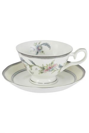 Чашка с блюдцем Сад цветов EMERALD. Цвет: мультицвет