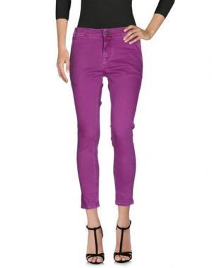 Джинсовые брюки 2W2M. Цвет: розовато-лиловый