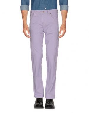 Повседневные брюки CHIRIBIRI. Цвет: сиреневый