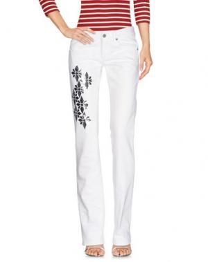 Джинсовые брюки EXTE. Цвет: белый