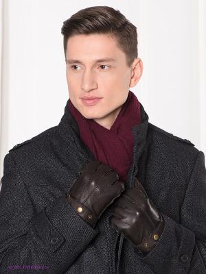 Перчатки MICHEL KATANA`. Цвет: коричневый