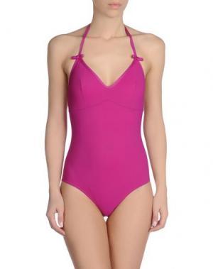Слитный купальник BINI COMO. Цвет: розовато-лиловый