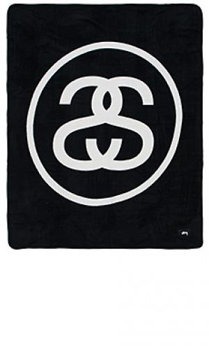 Флисовое одеяло ss link Stussy. Цвет: черный