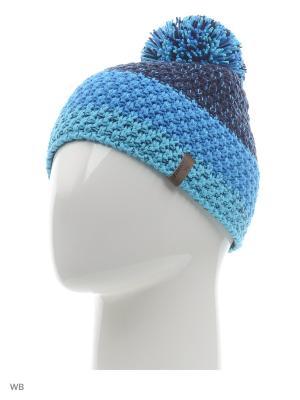 Шапка Ziener. Цвет: голубой, темно-синий