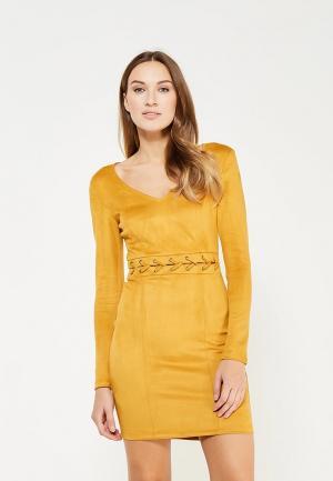 Платье MiraSezar. Цвет: желтый