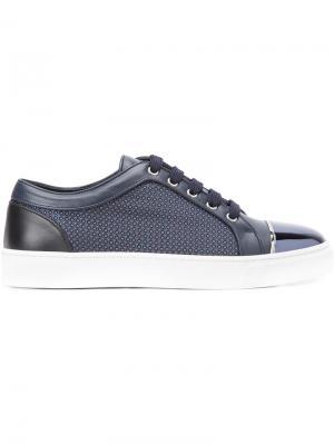 Кроссовки с контрастным носком Louis Leeman. Цвет: синий