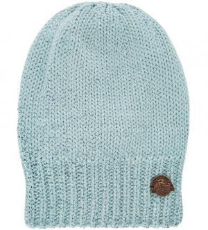 Вязаная шапка с подкладкой R.Mountain. Цвет: голубой