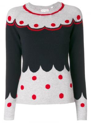 Кашемировый свитер с узором Chinti & Parker. Цвет: серый