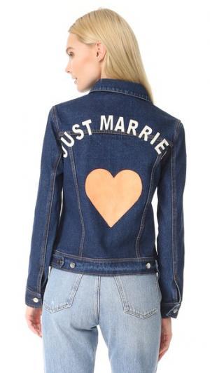 Пиджак из денима Just Married JN by LLOVET. Цвет: голубой