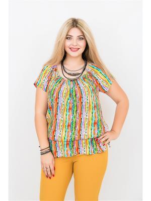 Блуза BALSAKO. Цвет: оранжевый