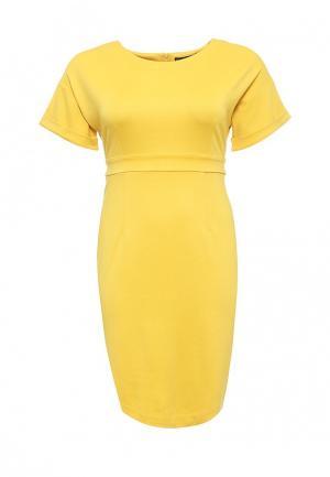 Платье Bestia Donna. Цвет: желтый