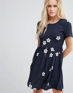 Little White Lies Приталенное платье Daisy Age. Цвет: синий