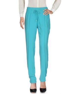 Повседневные брюки LAURÈL. Цвет: бирюзовый