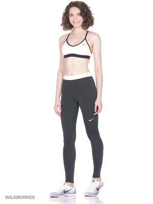 Леггинсы W NP WM TGHT Nike. Цвет: антрацитовый, желтый