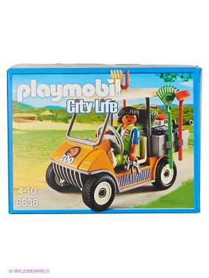Зоопарк: Автомобиль Playmobil. Цвет: горчичный, зеленый