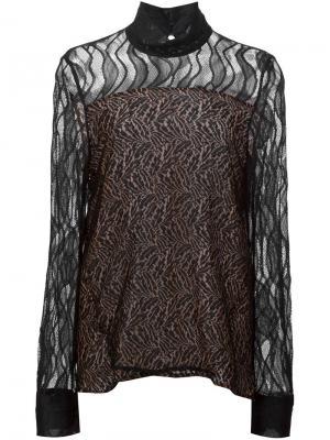 Кружевная блузка Prabal Gurung. Цвет: чёрный