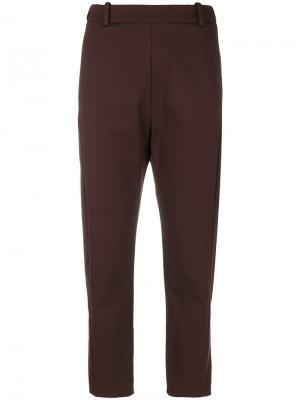 Укороченные зауженные брюки Ilaria Nistri. Цвет: красный