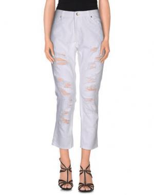 Джинсовые брюки SH by SILVIAN HEACH. Цвет: белый