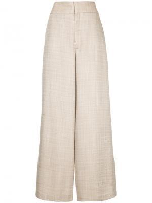 Широкие брюки с завышенной талией Ballsey. Цвет: коричневый