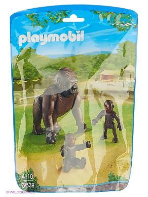 Зоопарк: Горилла со своими детенышами Playmobil. Цвет: коричневый