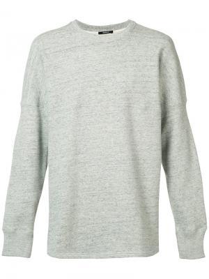 Curved hem sweatshirt Denham. Цвет: серый