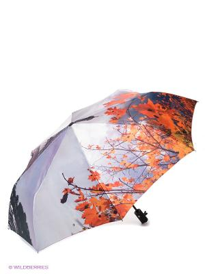 Зонт Flioraj. Цвет: оранжевый, серебристый