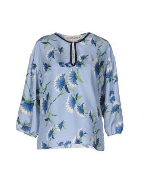 Блузка SHIRTAPORTER. Цвет: небесно-голубой