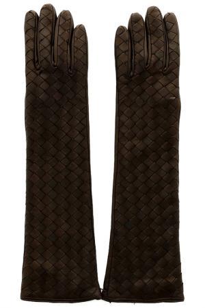 Перчатки SERMONETA. Цвет: коричневый