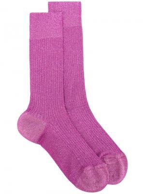 Носки с люрексом Dsquared2. Цвет: розовый и фиолетовый