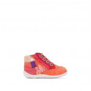 Ботинки Biflorid с цветочными деталями KICKERS. Цвет: коралловый/ розовый